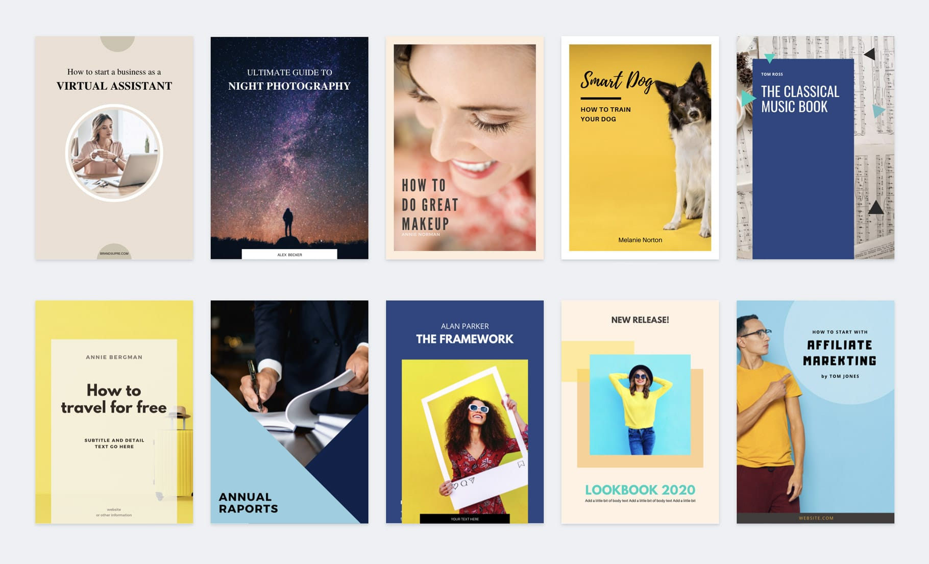 okładki ebook canva