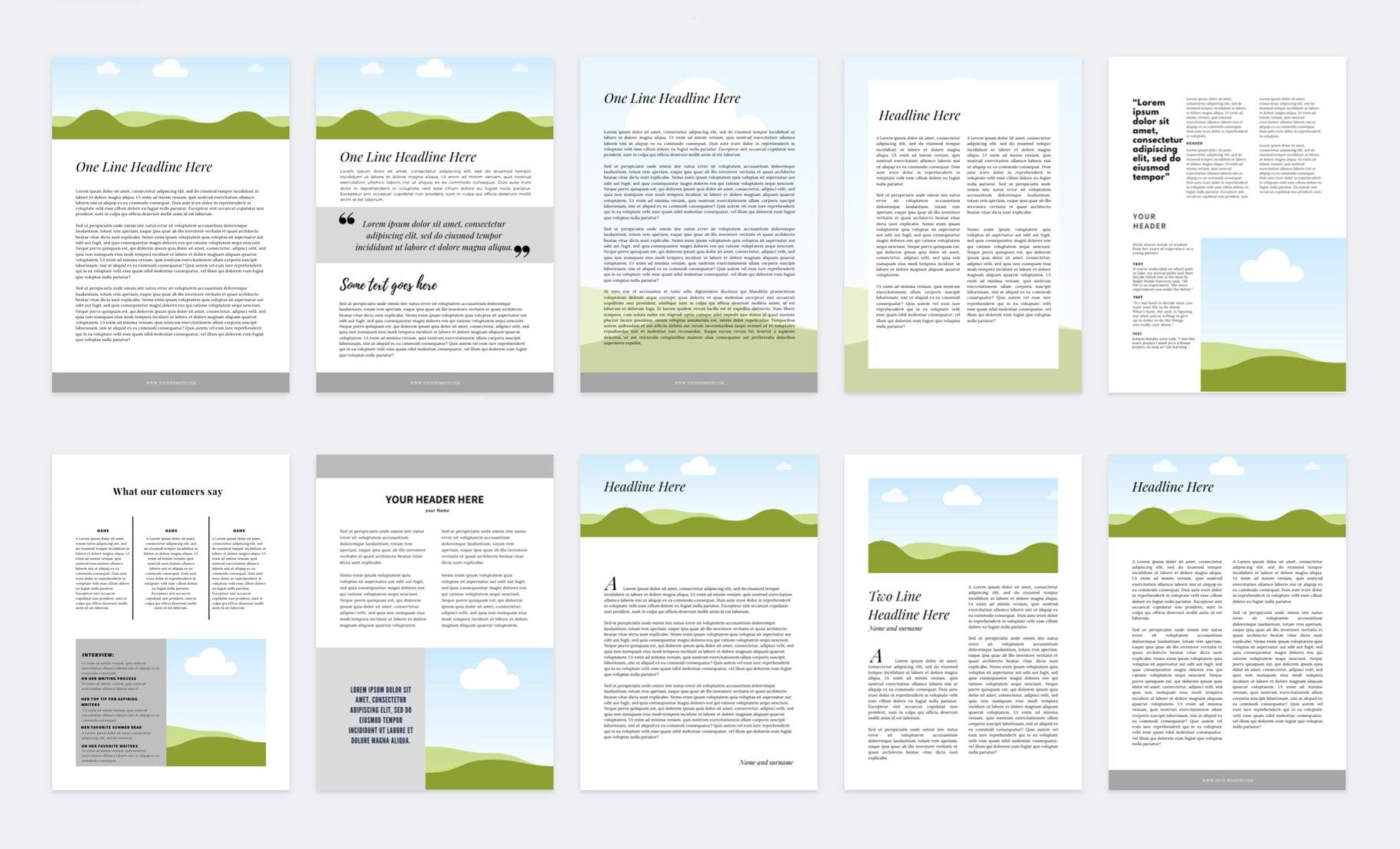 szablony ebook pdf