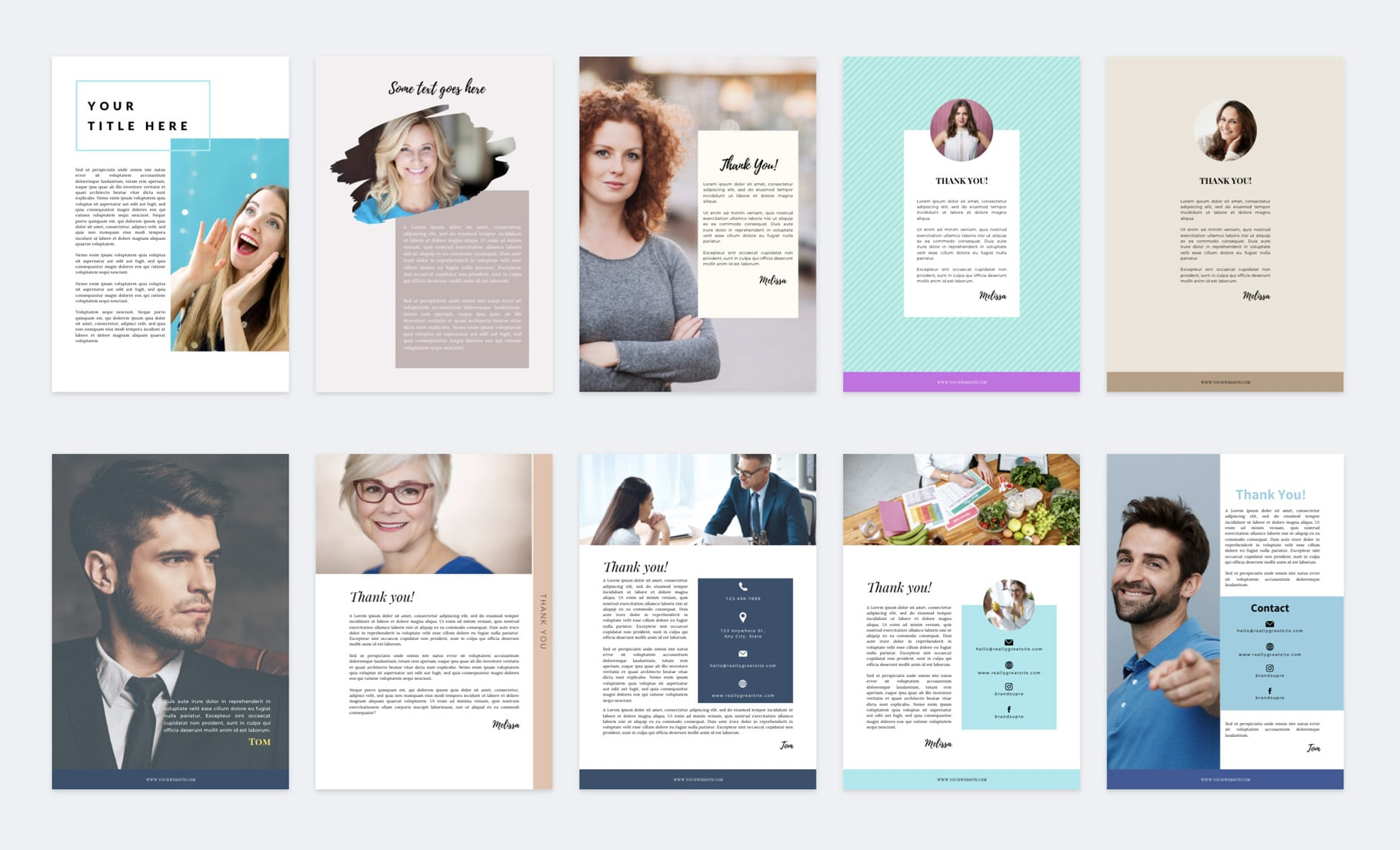 canva ebook thank you page