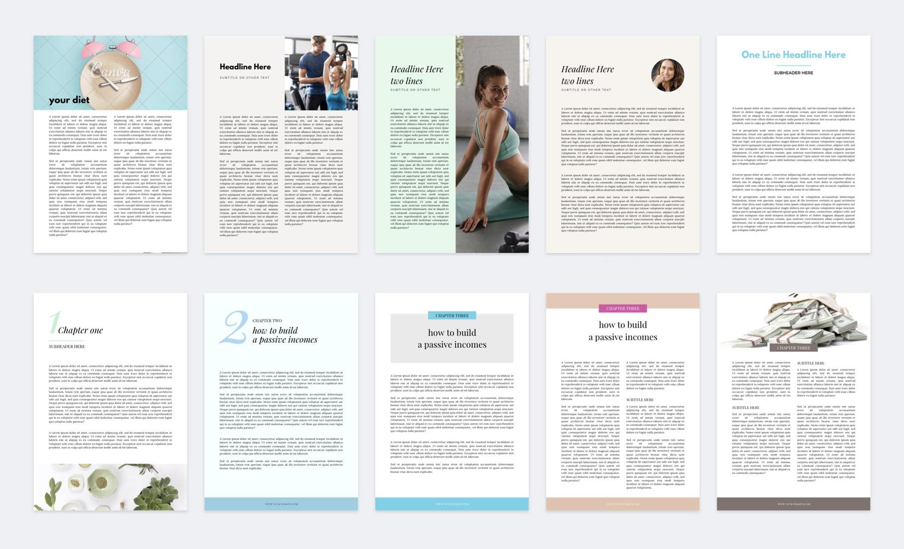 szablony ebook