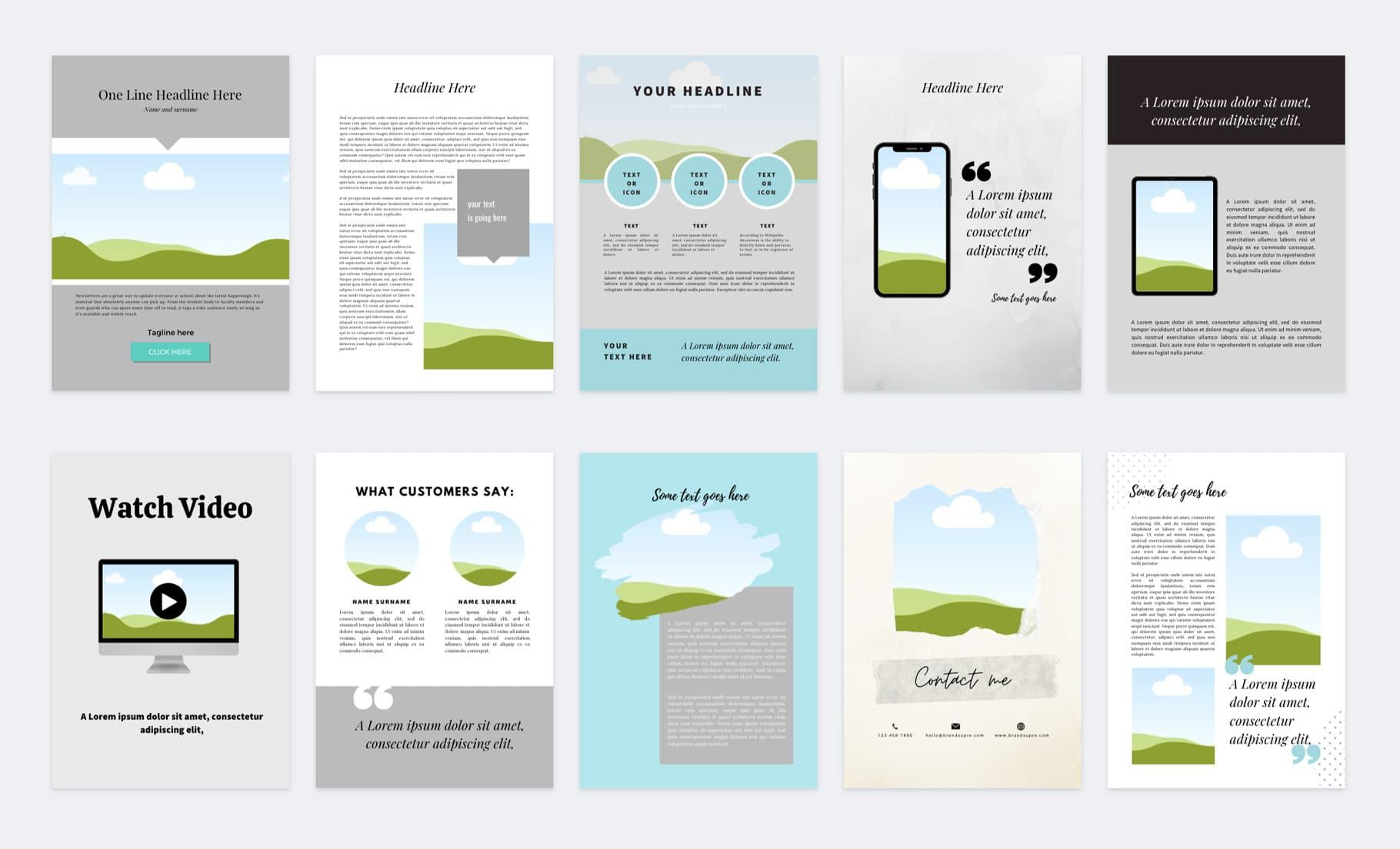 ebook szablony canva